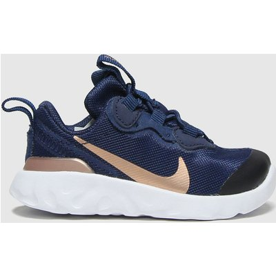 Nike Navy & Gold Renew Element 55 Trainers Toddler