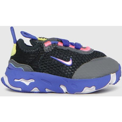 Nike Black And Blue React Live Trainers Toddler