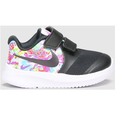 Nike Black & White Star Runner 2 Fable Trainers Toddler