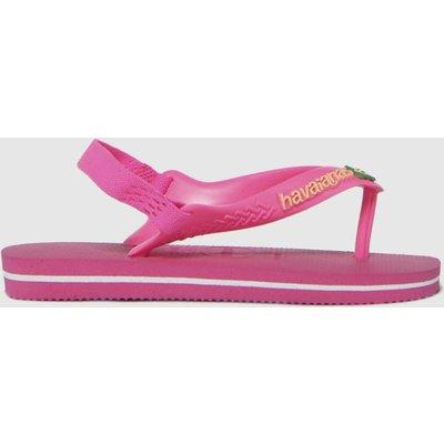 Havaianas Pink Baby Brasil Logo Ii SANDAL Toddler