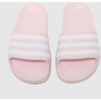 Adidas Pale Pink Adilette Aqua Sliders Junior