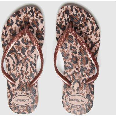 Havaianas Bronze Slim Animal Sandals Junior