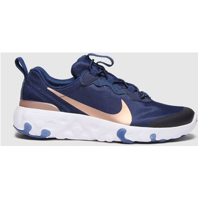 Nike Navy & Gold Renew Element 55 Trainers Junior