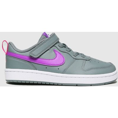 Nike Dark Grey Court Borough Low 2 Trainers Junior