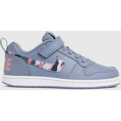 Nike Grey Court Borough Low Trainers Junior
