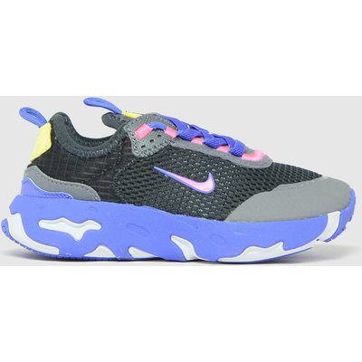 Nike Black And Blue React Live Trainers Junior