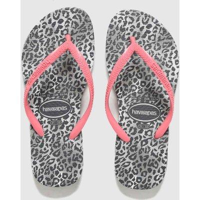 Havaianas Pink & Black Slim Leopard SANDAL Junior