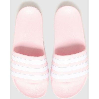 Adidas Pale Pink Adilette Aqua Sliders Youth