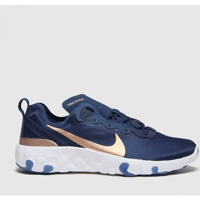 Nike Navy & Gold Renew Element 55 Trainers Youth