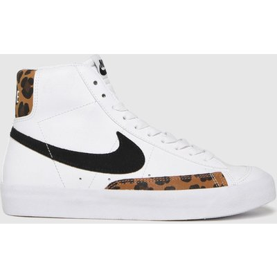 Nike White & Black Blazer Mid 77 Se Trainers Youth