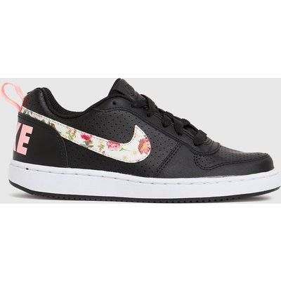 Nike Black & Pink Court Borough Low 2 Trainers Youth