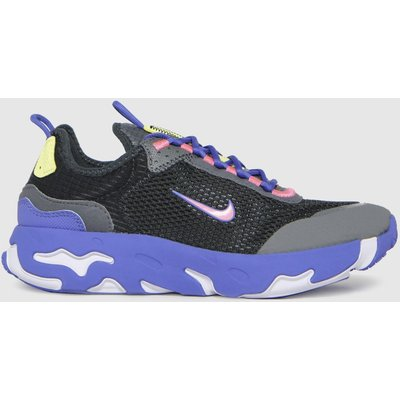Nike Black And Blue React Live Trainers Youth