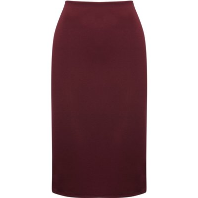 Women's Ladies pencil skirt in midi length plain with high waist and stretch fabric