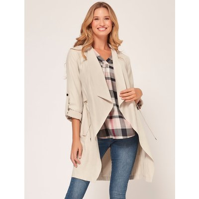 Women's Ladies lightweight waterfall utility jacket