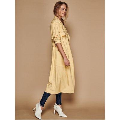 Women's Sonder Studio ladies yellow duster coat