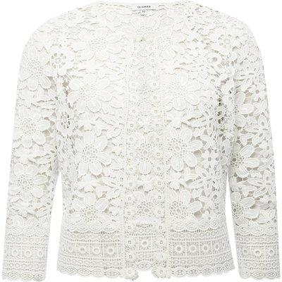 Ladies crochet lace jacket  - Ivory