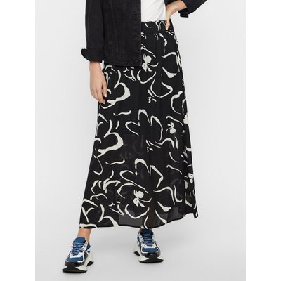 Women's Vero Moda ladies maxi skirt with stretch waist abstract print lining high waist