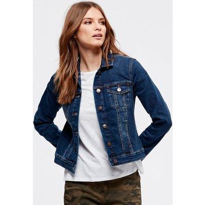 Women's Ladies Petite cropped denim jacket, Indigo