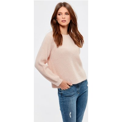 Ladies petite blouson sleeve jumper  - Pale Pink