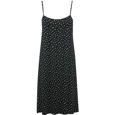 Ladies navy heart print strappy nightdress  - Navy
