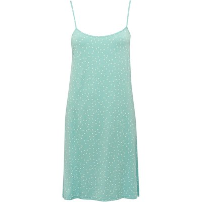 Ladies turquoise spot print strappy nightdress  - Turquoise