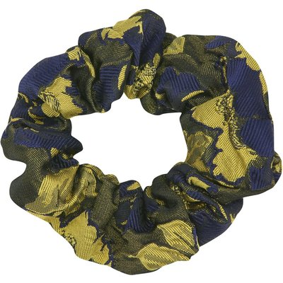 Muse hair scrunchie in floral jacquard fabric  - Multicolour