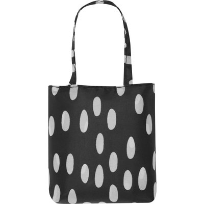Ladies black spot print tote bag  - Black