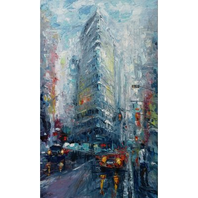 Cityscape - New York(Oil painting, 60x100cm, impressionism)