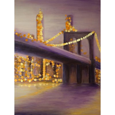 Distance - Brooklyn Bridge Bokeh New York Cityscape Painting