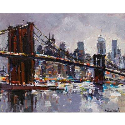 Brooklyn Bridge - New York City - Evening cityscape