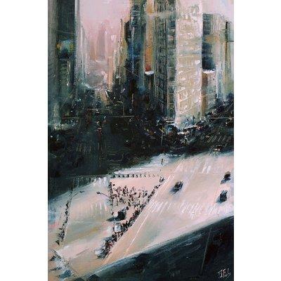 City painting Flatiron Building Manhattan New York