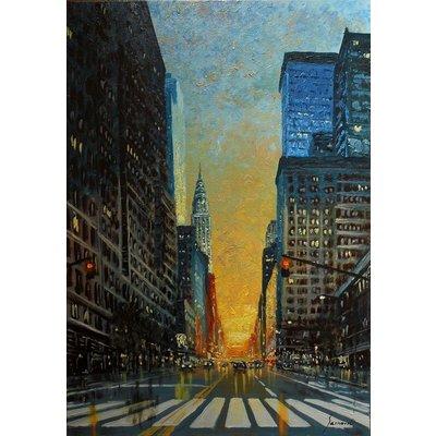GOOD MORNING NEW YORK, ORIGINAL OIL ON CANVAS, MODERN, order the same artwork
