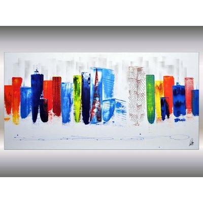 Exciting New York III - Abstract Art - Acrylic Painting - Canvas Art - Abstract Skyline Painting - Ready to Hang