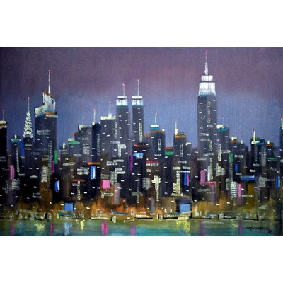 Abstract New York City, 36x24 in