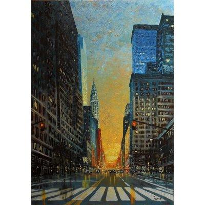 Good morning New York, original oil on canvas