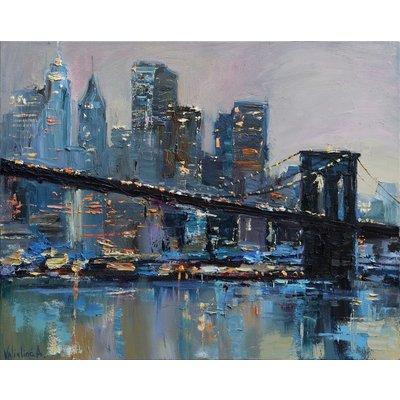 Brooklyn Bridge - New York City - Evening urban landscape painting