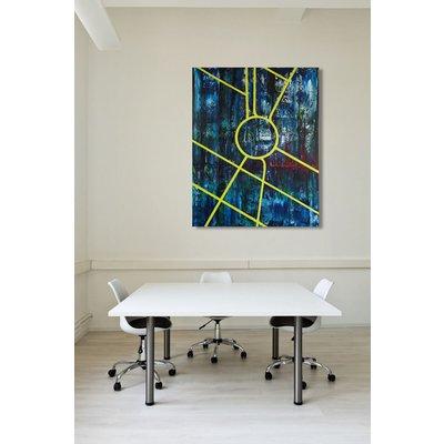 Columbus Circle, New York City (80 x 100 cm) (32 x 40 inches) oil