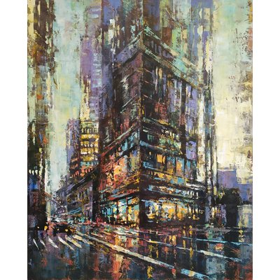 Cityscape - New York series, Oil painting, 40x50cm, impressionism, ready to hang, palette knife painting