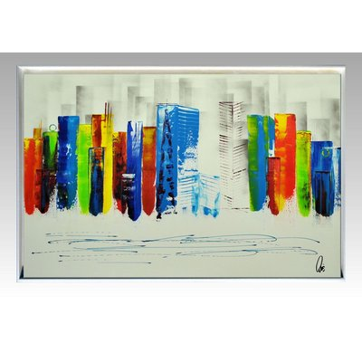 Exciting New York II - Abstract Art - Acrylic Painting - Canvas Art - Framed Painting - Abstract Skyline Painting - Ready to Hang
