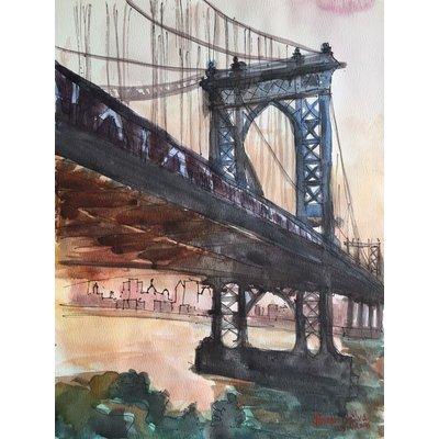 Manhattan Bridge at Sunset, New York
