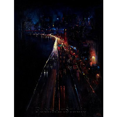 Manhattan Bridge New York City painting