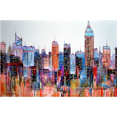 Abstract New York City2, 36x24in