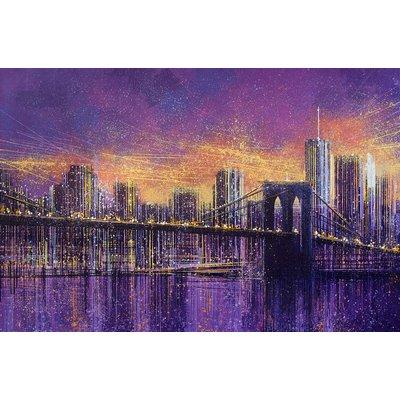 Brooklyn Bridge At Dusk - New York City