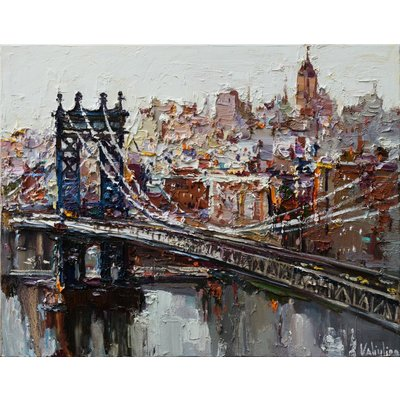 Manhattan Bridge - New York City - Original oil painting