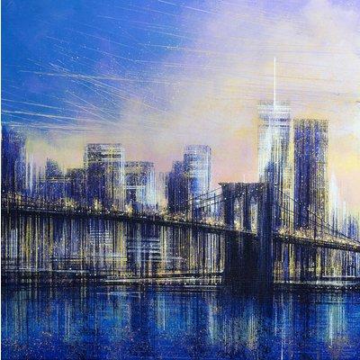 Brooklyn Bridge At Sunset - New York City