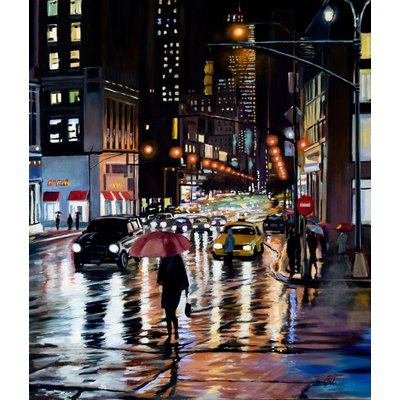 A rainy evening in New York