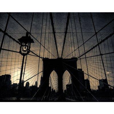 Brooklyn Bridge - New York ( Vintage Print )
