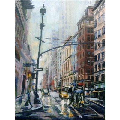Blue umbrella New York