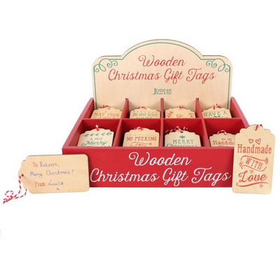 S/64 Xmas Wooden Gift Tags