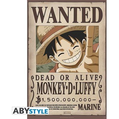 "One Piece - ""Wanted Luffy New 2"" Poster"